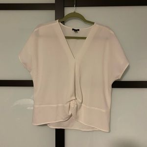 White knot front style v neck top from Ann Taylor